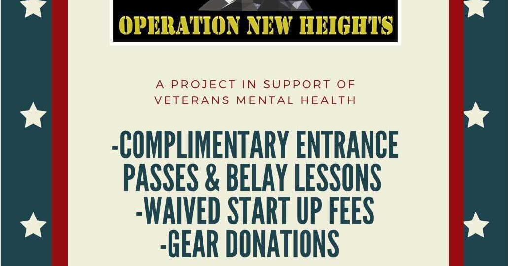 "MoonRocks launches ""Operation New Heights"" Veteran program, MoonRocks Bouldering Co."