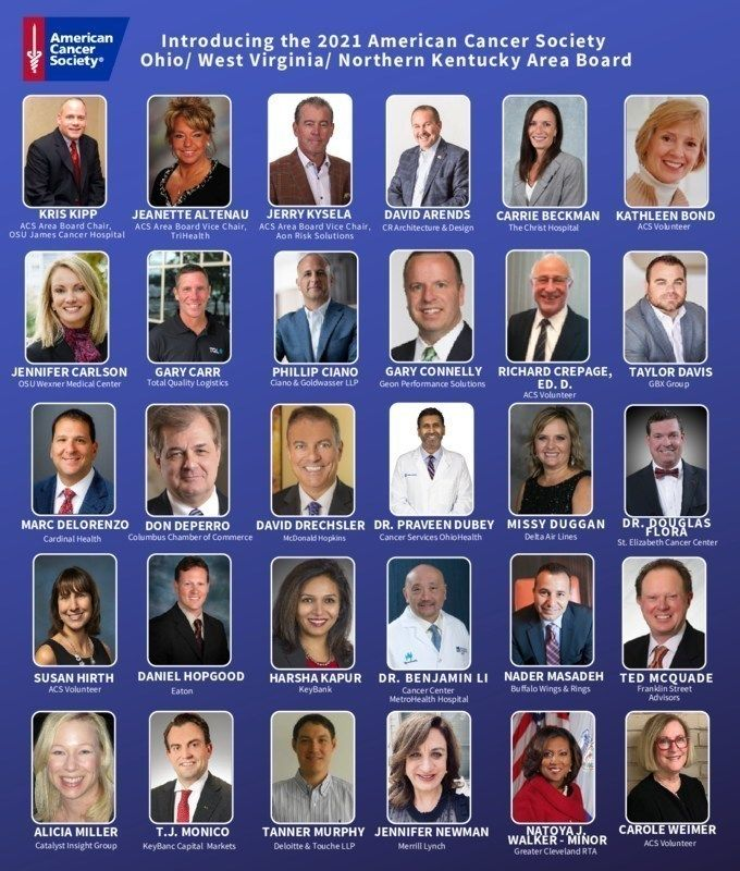American Cancer Society Announces 2021 Ohio/ West Virginia/ Northern Kentucky Area Board