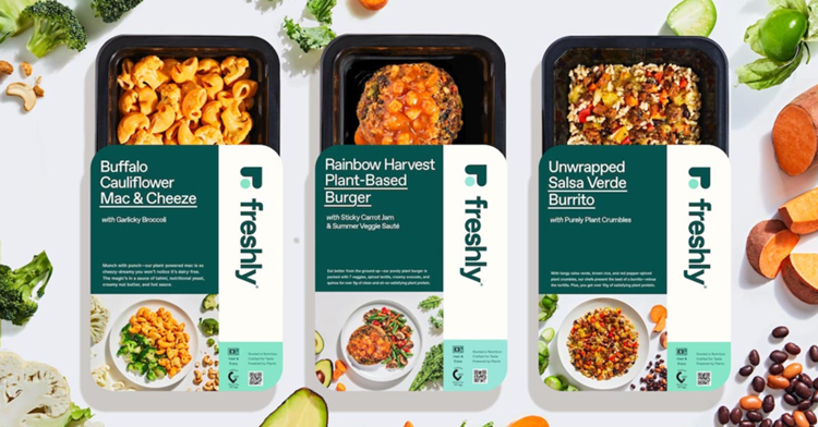 Freshly Introduces Purely Plant-Its First-Ever Plant-Based Meals Line