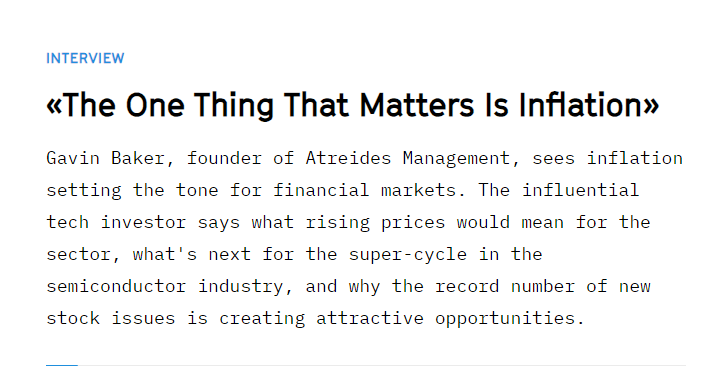 Gavin Baker, Managing Partner and CIO of Atreides Management joins The Market/NZZ for an in-depth interview