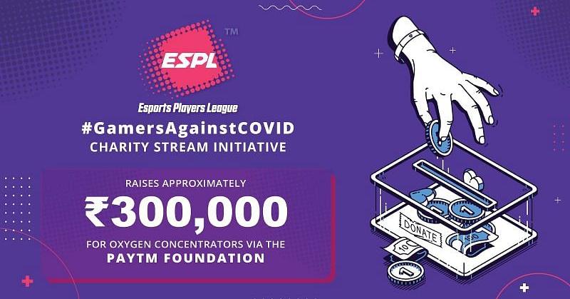 #GamersAgainstCOVID initiative by ESPL & Paytm raises almost ₹300,000 for India, ESPL