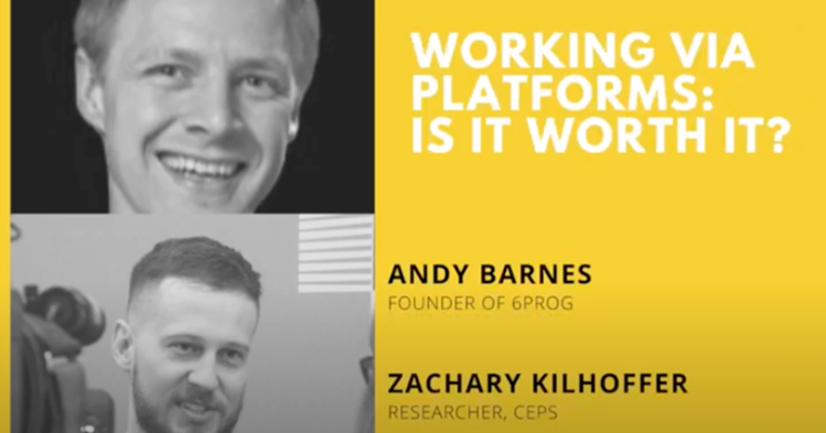 Discussion between a Founder of a freelance platform and a researcher, equipped with data and statistics about freelance platform performances. Working with platforms 😁😡 (with Andrew Barnes and Zachary Kilhoffer)