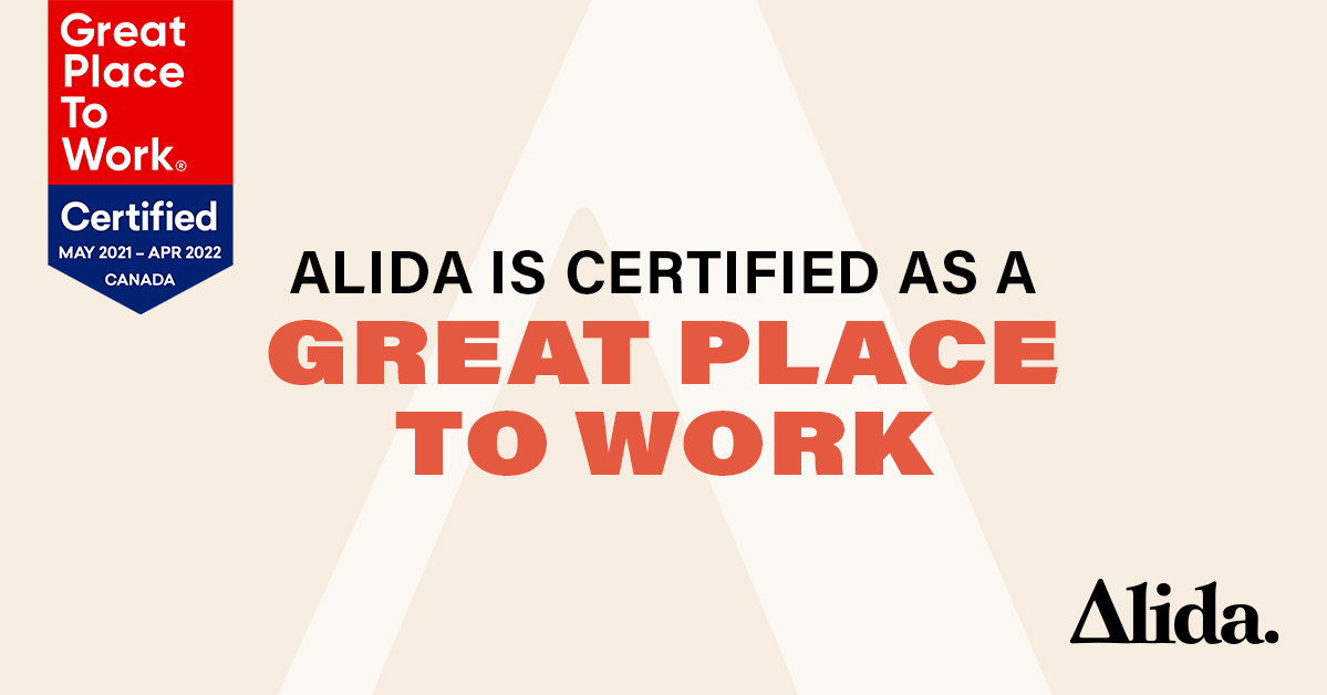 Alida Earns 2021 Great Place to Work® Certification, Alida