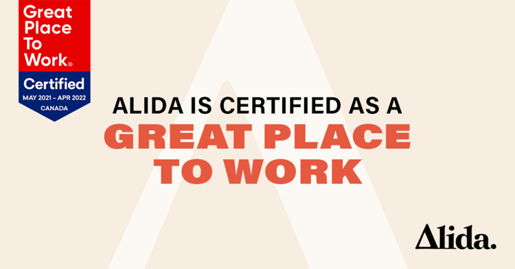 Alida Earns 2021 Great Place to Work® Certification