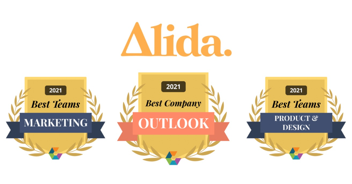 Alida Wins 2021 Comparably Awards for Best Company Outlook, Best Marketing and Product Teams, Alida