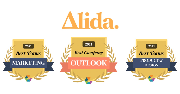 Alida Wins 2021 Comparably Awards for Best Company Outlook, Best Marketing and Product Teams