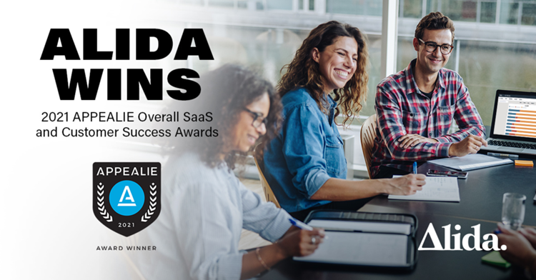 Alida Wins 2021 APPEALIE Overall SaaS and Best Customer Success Awards